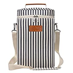 SKU: 1KTWB220STRFeatures: This beautiful this deluxe wine travel carrier cooler insulated tote bag let you put your favorite drinks to restaurants, picnic, party, beach or any other gathering occasion. It featured with shoulder strap and hand...