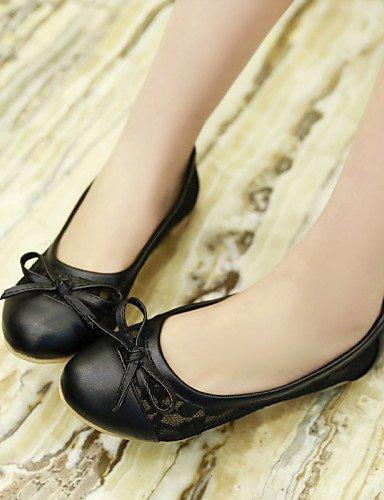 Bout Rond amande Talon Appartements Chaussures Uk3 Black femme Pdx Noir rose Décontracté Eu35 us5 Cn34 Similicuir En Plat q0YSIw7