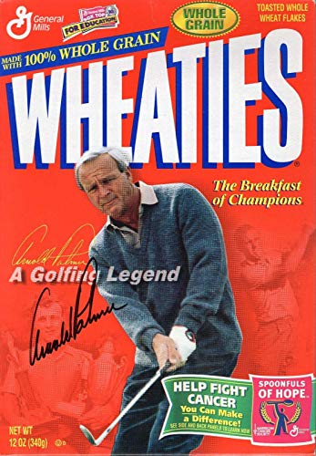 Arnold Palmer Hand Signed Wheaties Box Never Opened Very Rare - JSA Certified - Golf Autographed Miscellaneous Items