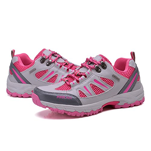 Shoes Walking Summer Shoes Trekking Running Men Running Women Pink Shoes Shoes Leather Breathable Slip Anti Hikking Trail Training Fexkean 6wqv5CE