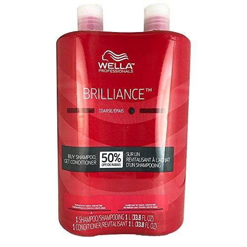 WELLA Brilliance Shampoo & Conditioner Coarse Colored Hair,L