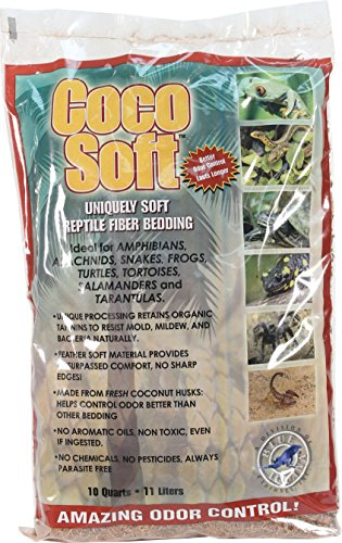 Carib Sea SCS00210 Coco Soft Reptiles Bedding, Fiber, 10-Quart