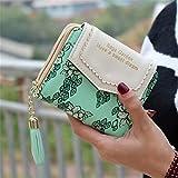 LTDD Fasion Women Flower Print Short Card Holder Purse Clutch Wallet