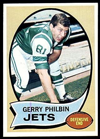 Amazon.com  1970 Topps  226 Gerry Philbin Near Mint+ NY Jets ... a67a10a25
