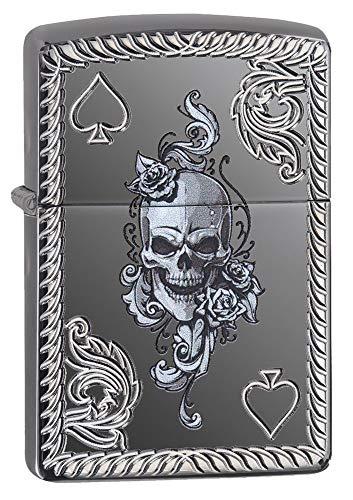 (Zippo Spade & Skull Design Pocket Lighter)