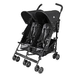 Maclaren Twin Triumph Double Stroller - Black/Charcoal - One Size