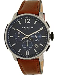 COACH Mens Bleecker Chrono Leather Matte Navy Watch