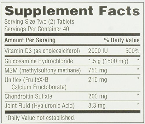 020525118356 - Move Free Advanced Glucosamine Chondroitin MSM Vitamin D3 and Hyaluronic Acid Joint Supplement, 80 ct carousel main 1