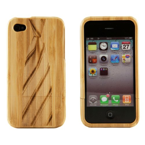 Boho Tronics Bohobamboocases Natural Handmade hard wood Bamboo Engraved Necktie Case with the strength of a hard case cover! For iPhone 6 For Apple iPhone 6 (4.7-Inch)