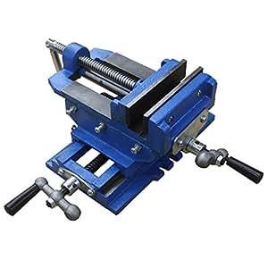 "HFS (Tm) 5"" Cross Slide Vise Drill Press Metal Milling 2 Way X-Y Heavy Duty Clamp Machine"