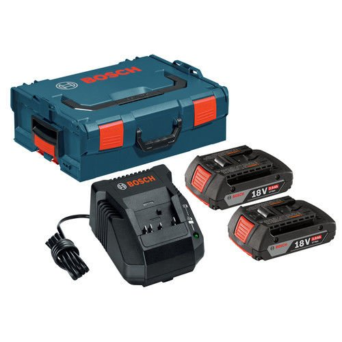 Bosch SKC181-202L 18-Volt Lithium-Ion Starter Kit with (2) 2.0 Ah Batteries, Charger and L-BOXX-2 by Bosch