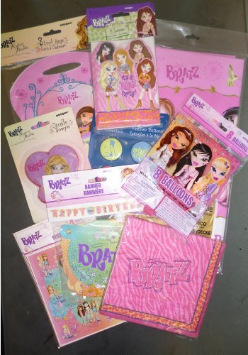 Toyland Bratz Complete Party Packag (10 Items) - All You Need For A Special Girl