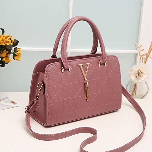 Bolso Hombro hot de pink Bolso de Señoras XWAN moda la Sra gris qxf5a1WwI