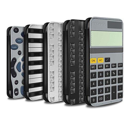 Stuff4 Coque/Etui/Housse Cuir PU Case/Cover pour Apple iPhone 4/4S / Pack 5pcs Design / Clés/Boutons Collection