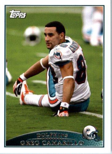 2009 Topps NFL Football Card #193 Greg Camarillo Miami Dolphins - NFL Trading - Stores Camarillo