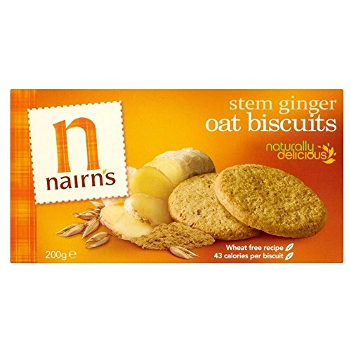 Nairn's Stem Ginger Oat Biscuits (200g) - Pack of 6