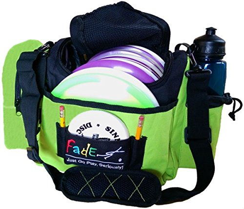 Fade Gear Crunch Box Disc Golf Bag with 12 Discs and 2 Putters Capacity, Mid-Sized, Electric Lime