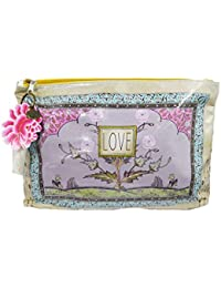 Zen Garden Love Nature Oil Cloth Large Make-up or Accessory Travel Bag