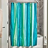 iDesign Bazaar Fabric Shower Curtain for Master, Guest, Kids', College Dorm Bathroom, 72