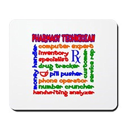 CafePress - Pharmacy Technician - Non-slip Rubber Mousepad, Gaming Mouse - Novelty Prescription Pads