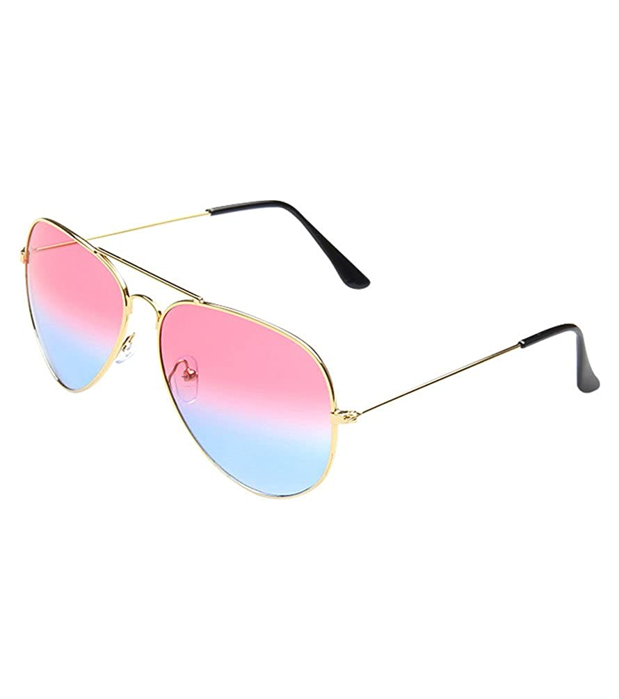 c016039b4f MissFox Gafas de Sol Moda Vintage para Mujer y Hombre Lente Talla única  UV400 Piloto Sunglasses Azul gris: Amazon.es: Ropa y accesorios