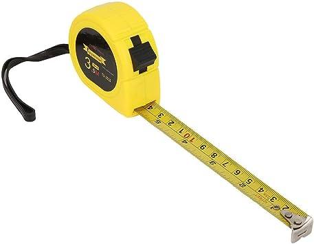 Long Scale Steel Measuring Tape Orange Rétractable 3 M 10 ft environ 3.05 m