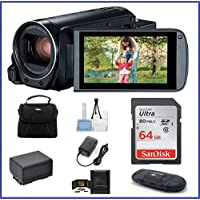 Canon VIXIA HF R82 Full HD Camcorder Bundle, includes: 64GB SDXC Memory Card, Card Reader, Spare Battery and more...