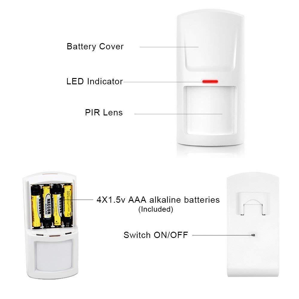 App Gratuita gsm// 3G Antirrobo ERAY WM3FX Sistema de Alarma WiFi Garant/ía Inal/ámbrico Alarmas para Casa 433MHz Voz y LCD Pantalla en Castellano Multi-Accesorios y Pilas Incluidas Servicio