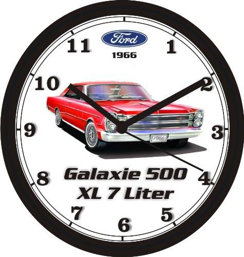 1966 FORD GALAXIE 500XL 7 LITER WALL CLOCK-Free USA Ship (Wall Clock Honda)