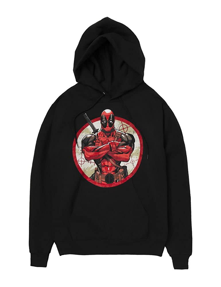 Marvel Deadpool Bullseye Mens Black Hoodie Sweatshirt Toy Zany
