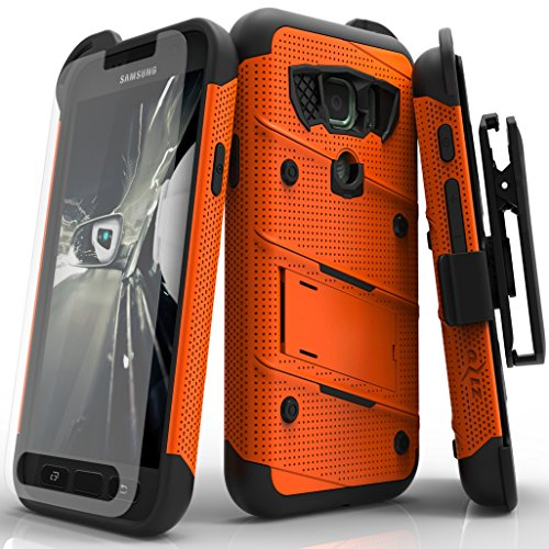 Samsung Galaxy S7 Active Case, Zizo [Bolt Series] w/ [Galaxy S7 Active Screen Protector] Kickstand [12 ft. Military Grade Drop Tested] Holster - G891