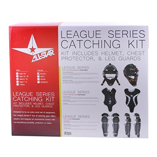 All Star Youth League Series Catchers Gear Sets Ages 9-12 Black