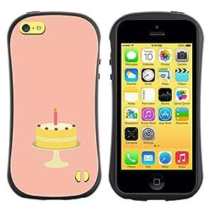 """Pulsar iFace Series Tpu silicona Carcasa Funda Case para Apple iPhone 5C , Torta de cumpleaños de Azúcar Dulces caramelo Arte"""""""