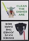 Clean / Dirty Yoda & Darth Vader Dishwasher Magnet.