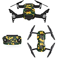 Waterproof Stickers Decal for Drone DJI Mavic Air Kit - Includes Drone Skin, Remote Controller Skin and Battery Skins (MC01)