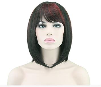 Pelucas Bob Corta Para Mujer Peluca Cabello Natural De Material SintéTico, Pelo Largo Hasta El