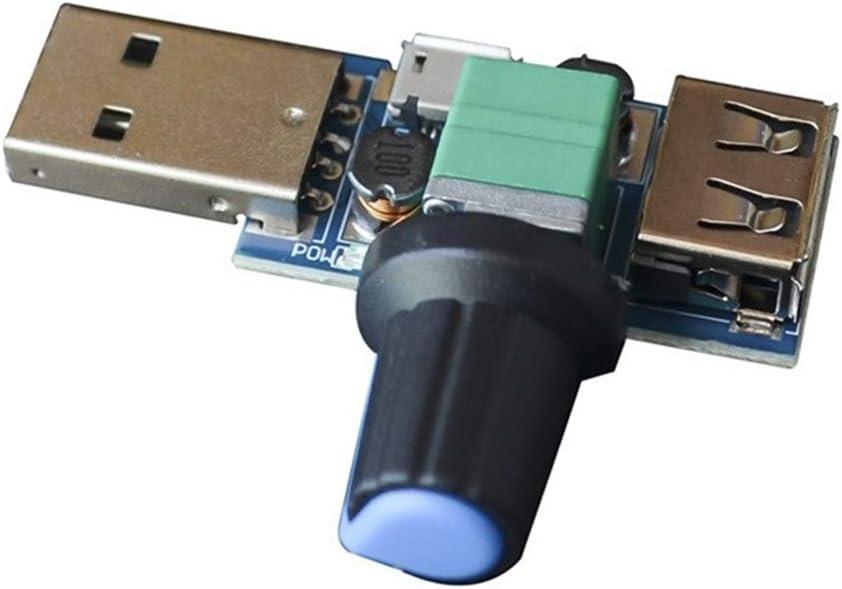 multi-stall R/églage pour la maison et le bureau Lot de 2 contr/ôleurs de vitesse de ventilateur USB pour r/éduire le bruit
