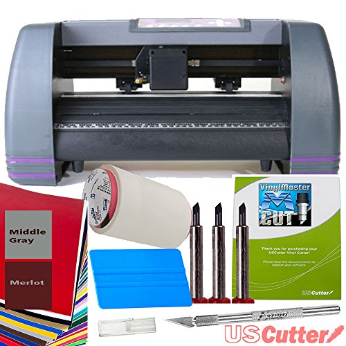"USCutter 14"" Craft Vinyl Cutter MH Bundle - Sign Making Kit w/Design & Cut Software"