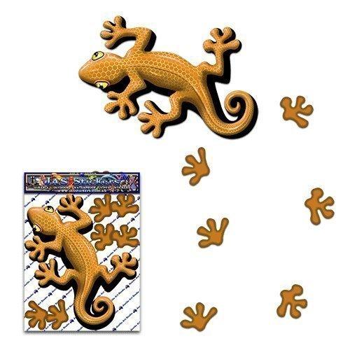 Gecko sable couleur petit animal autocollant de lé zard pour les camions de caravanes - ST00031SD_SML - Stickers JAS
