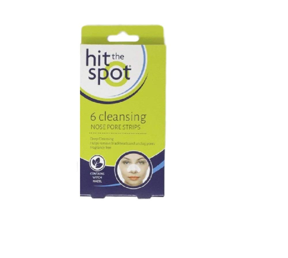 18 Deep Cleansing Nose Pore Strips chin and forehead - Fragrance free- 3 pack of 6 Hit the Spot