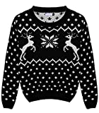 Product review for Nagoo Girls Christmas Reindeer Snowflake Thick Knitted Pullover Sweater