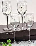 Italian Collection Wine Glasses Set, Multi-Color Swarovski Crystal, Lead Free
