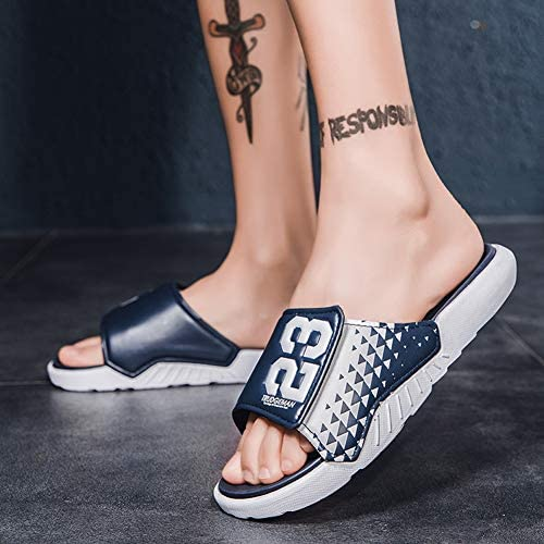 51Sm6n%2BNNyL. AC Men's Athletic Adjustable Slide Sandals with Velcro Lightweight Comfort Slip On Sport Slippers    Product Description