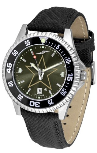 SunTime Vanderbilt Commodores Competitor AnoChrome Men's Watch with Nylon/Leather Band and Colored Bezel