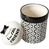 "DEI Ceramic Treat Unleashed Collection ""My Dog is My Loyal Friend"" Jar"