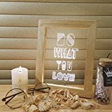 3D LED Wood Frame Art Night Light, Soft Light Decorate Desk, Bedroom, Living Room  for Kids and Adults, Decorate Holiday Party Atmosphere, 4+ Styles 7.3x9.3x0.8 inches (Letter)
