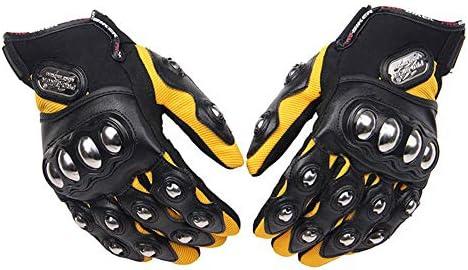 オートバイの手袋、屋外の自転車のオートバイの競争の手袋の合金鋼鉄保護手袋,イエロー