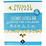 Primal Kitchen Coconut Cashew Collagen Protein Bars, 1.7 Ounce, Pack of 6, Gluten Free, Paleo