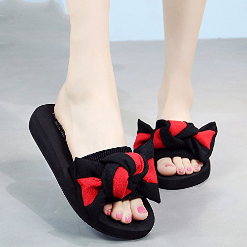 Slippers HAIZHEN Women shoes Flat Sandals Female Summer Leisure Non-slip Beach Shoes Handmade Fashion Sandals For 18-40 Years Old for Women (Color : #4, Size : EU39/UK6/CN39) #2