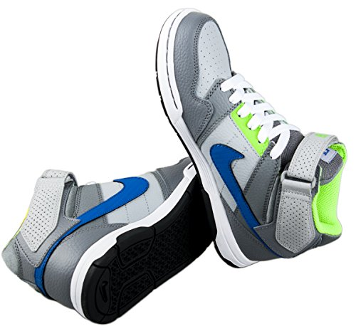 Nike Mogan MID 2 JR B Zapatillas de skateboarding, Niños Gris / Azul / Blanco (Wolf Grey / Game Royal)